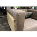 modern European style three seat sectional fabric sofa