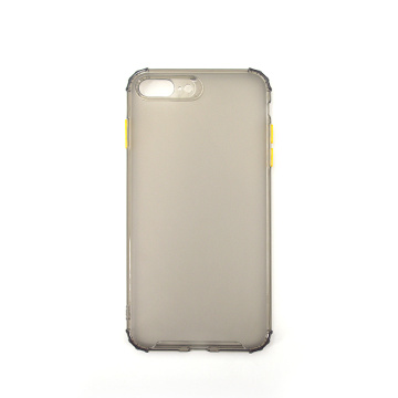 Custodia morbida in silicone per iPhone con cover posteriore