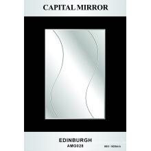 Espejo de plata del cuarto de baño del vidrio 4m m (AMG-028)