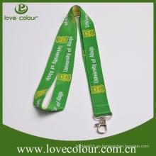 Personalizada de alta calidad no moq tejido correa de logotipo con gancho de metal