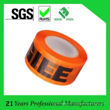 Fita de embalagem impressa personalizada alta qualidade de BOPP