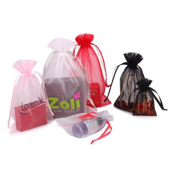 Customized logo colorized gifts packing organza pouch