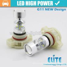 Atacado 45W Branco / âmbar PSX24W PY24W nevoeiro bulbo mini lâmpada
