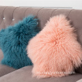 "9 ""x 17"" Lamb Fur Pillow Double Sided"