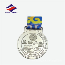2017 Silver colour marathon nice price metal custom medals