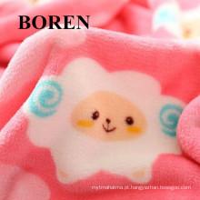 100% tecido de flanela de algodão para vestuário das crianças com animal impresso (C20X10 / 40X42)