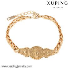 74577 xuping nouveau religieux plaqué or 18 carats femmes bracelet sans zircon