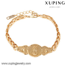 74577 xuping new religious 18k gold plated women bracelet without zircon
