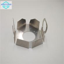 Dissipador de calor de corte a laser com dobramento e perfuração