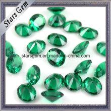 Venda quente de alta temperatura resistente solta pedra preciosa Oval 10 X 14 Nano Verde