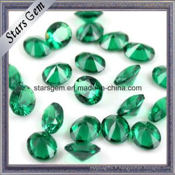 Vente chaude haute température résistant lâche ovale de pierres précieuses 10 X 14 Nano vert
