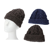 High Quality Hand Knitted Men Wool Cap Hat