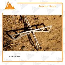 Alkohol-Brenner Halterung Anti-Rutsch Portable Faltung Edelstahlgestell