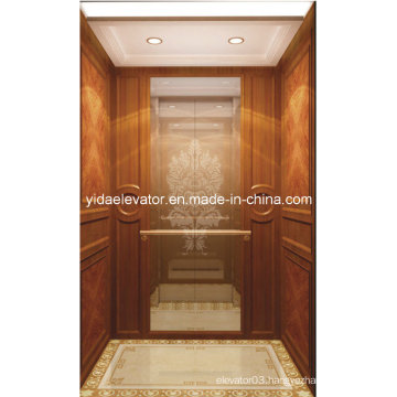 Passenger Lift with Glass Mirror From Professional Manufacturer