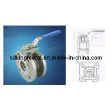 316 Válvula de esfera flangeada da bolacha 1PC (DIN)