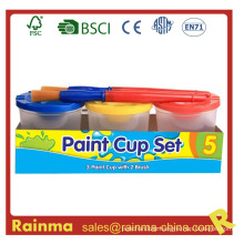 Acrylic Paint Cup Set with Paint Brush