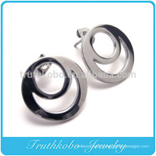 TKB-E0054 Stainless Steel Spikes Womens 316L Steel Laser Cut Dangle Earrings