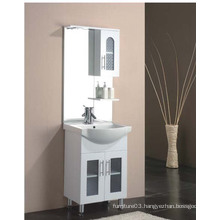 Floor Standing Gloss Painting MDF Bathroom Cabinet with Side Cabinet
