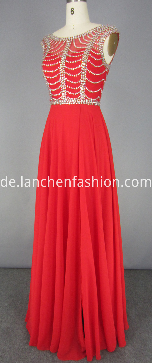 Red Chiffon Dress