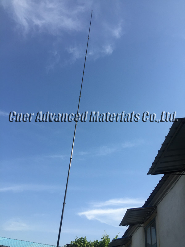 Super stiffness 45 feet extension length high modulus carbon fibre telescopic pole for window cleaning pole