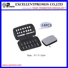 Mini ferramenta de mão Zipper caso pacote kit de ferramentas parafuso e soquete conjunto (EP-TS8129)