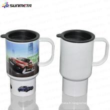 Sunmeta New Arrival American Hot Selling High Quality Sublimation Mug de voyage en plastique avec impression photo