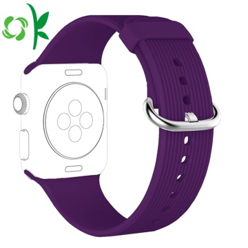 Single Color Waterproof Apple Silicone Watch Straps