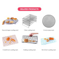 Hot sale home & Garden Kitchen utensils single tier Bright silver stainless steel Roast Chicken bread metal cooling rack