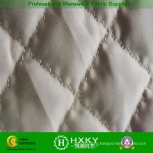 White Color Ripstop Quilted Fabric for Fashion Quilted Jackets