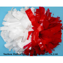 Wet Look POM Poms: Red and White