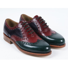 Three Color Genuine Leather Mens Flat Business Shoes (NX 424)
