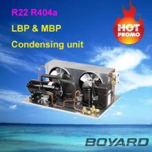 R22 r404a компрессор охлаждения небольшие холодильные установки конденсаторный блок для настоящих коммерческих холодильников остров дисплей кейс