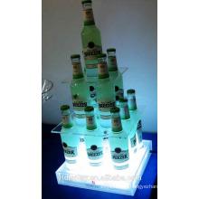 Kundengebundener Acrylwein-Flaschenhalter für Bar und KTV