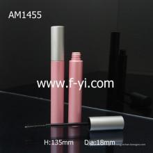 Lindo ronda de color rosa al por mayor tubo de rimel de aluminio vacío