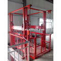 hydraulic platform lift/goods vertical hydraulic guide rail lift freight elevator