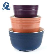Nouveau style couleur personnalisé maison mat pas cher rond en céramique saladier