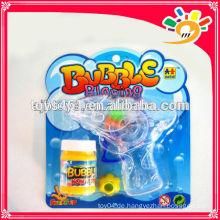 Lustige Reibung Blase Pistole Spielzeug, Transparente Blase Pistole, Blinkende Blase Pistole für Kinder mit Blase Wasser