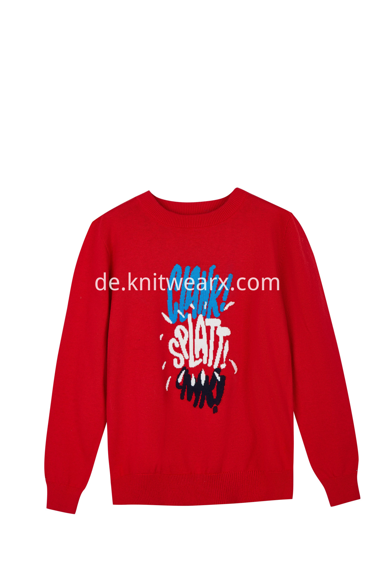 Boy's Funny Letter Sweater Cotton Crew-neck Kintted Pullover