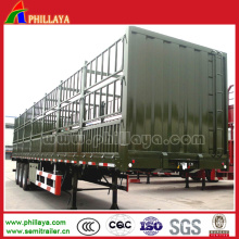High Fence High Flat Bed 3 Axles Fence Semi Trailer