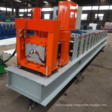 China steel house/roof tile /top roof making machin ridge cap tile cold roll forming machine