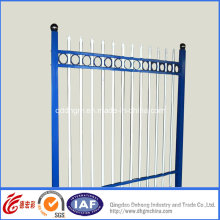 Simple Blue Residential Safety Wrought Iron Fence (dhfence-3)