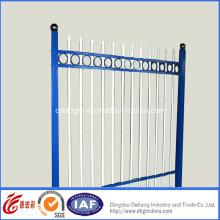 Cerca de ferro forjado de segurança residencial azul simples (dhfence-3)