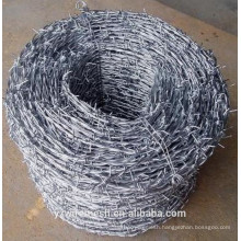 Alibaba China supplier (BWG14x14 or BWG16x16)galvanized barbed wire (Direct Factory)