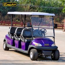 48V 6 Sitzer elektrische Golfwagen Club Auto Golf Buggy Wagen Batterie elektrische Buggy Auto