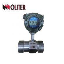 medidor de flujo de agua de turbina líquida de aceite de acero inoxidable SS316 SS304 con salida 4-20ma
