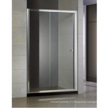 Porte coulissante de douche une fixe et une mobile