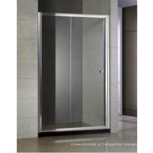 Deslizante porta do chuveiro um fixo e um móvel