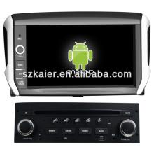 Système stéréo de voiture Android pour Peugeot 208 avec GPS / Bluetooth / TV / 3G / WIFI
