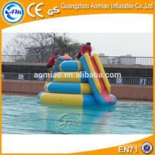 Trampolim slide inflável parede de água de escalada slides para venda