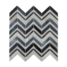 Mixed Chevron Stained Glass Mosaic Tile for Bathroom Wall